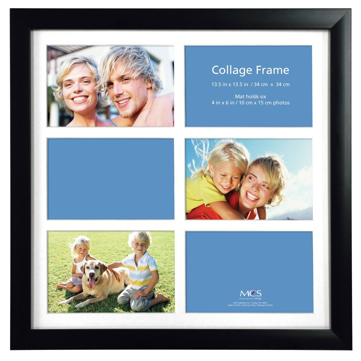 Amazon.com - MCS 13.25x13.25 Inch Collage Frame with 6 Openings ...