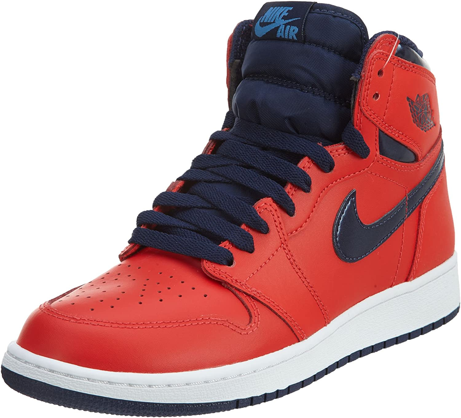 Amazon Com Nike Mens Air Jordan 1 Retro High Og Bg Letterman