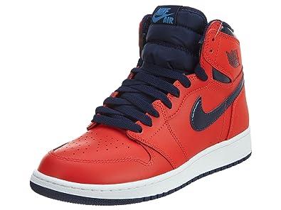 Nike Zapatillas de Baloncesto para Niños, Rojo (Lt Crmsn/Mid Nvy ...