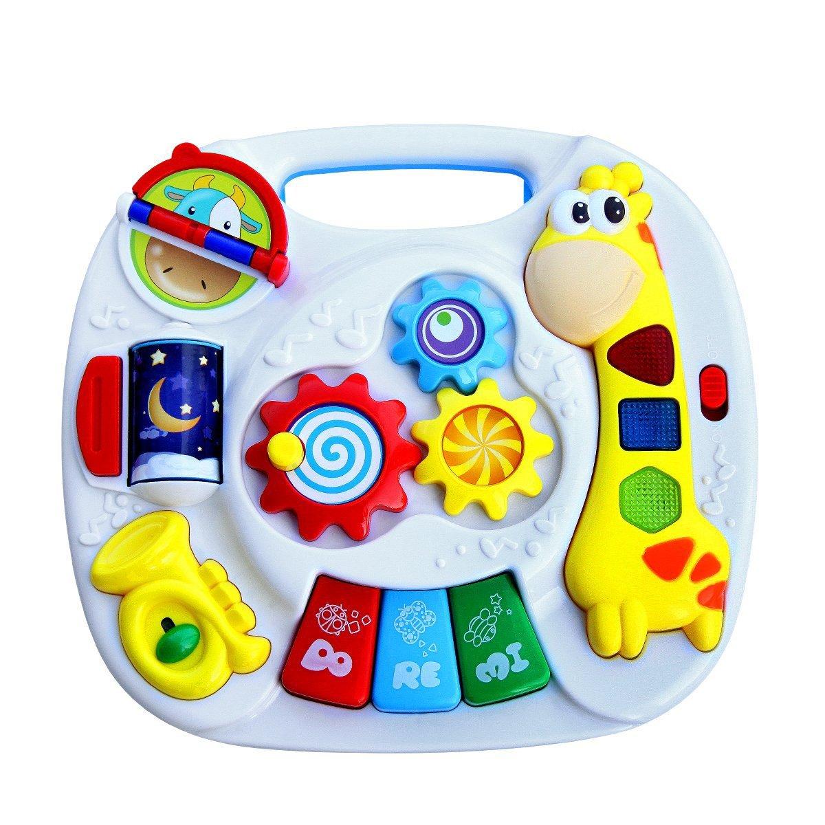 Early Educational Development Fawn Toys/Baby Table d'activité d'apprentissage Musical Avec Son Animal et Song & Light Petits Enfants HZY