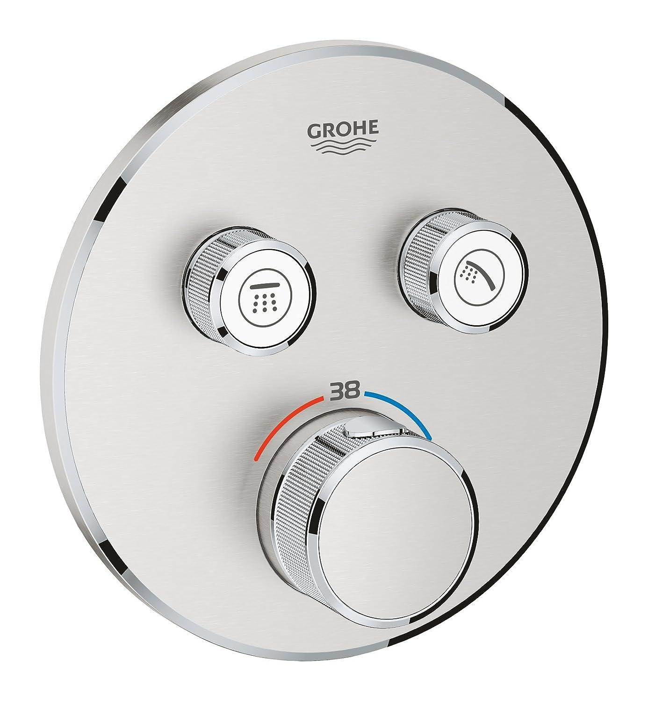 Grohe 29119DC0 Grohtherm Smartcontrol Termostato para Ducha con 2 Chorros Regulables, Acero, Redondo: Amazon.es: Bricolaje y herramientas