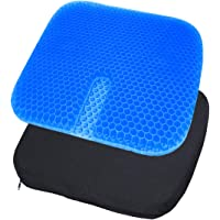 Gel Seat Cushion, Large Size Double Thick Breathable Honeycomb Design Cool Gel Cushion for Office Chair Car Wheelchair…