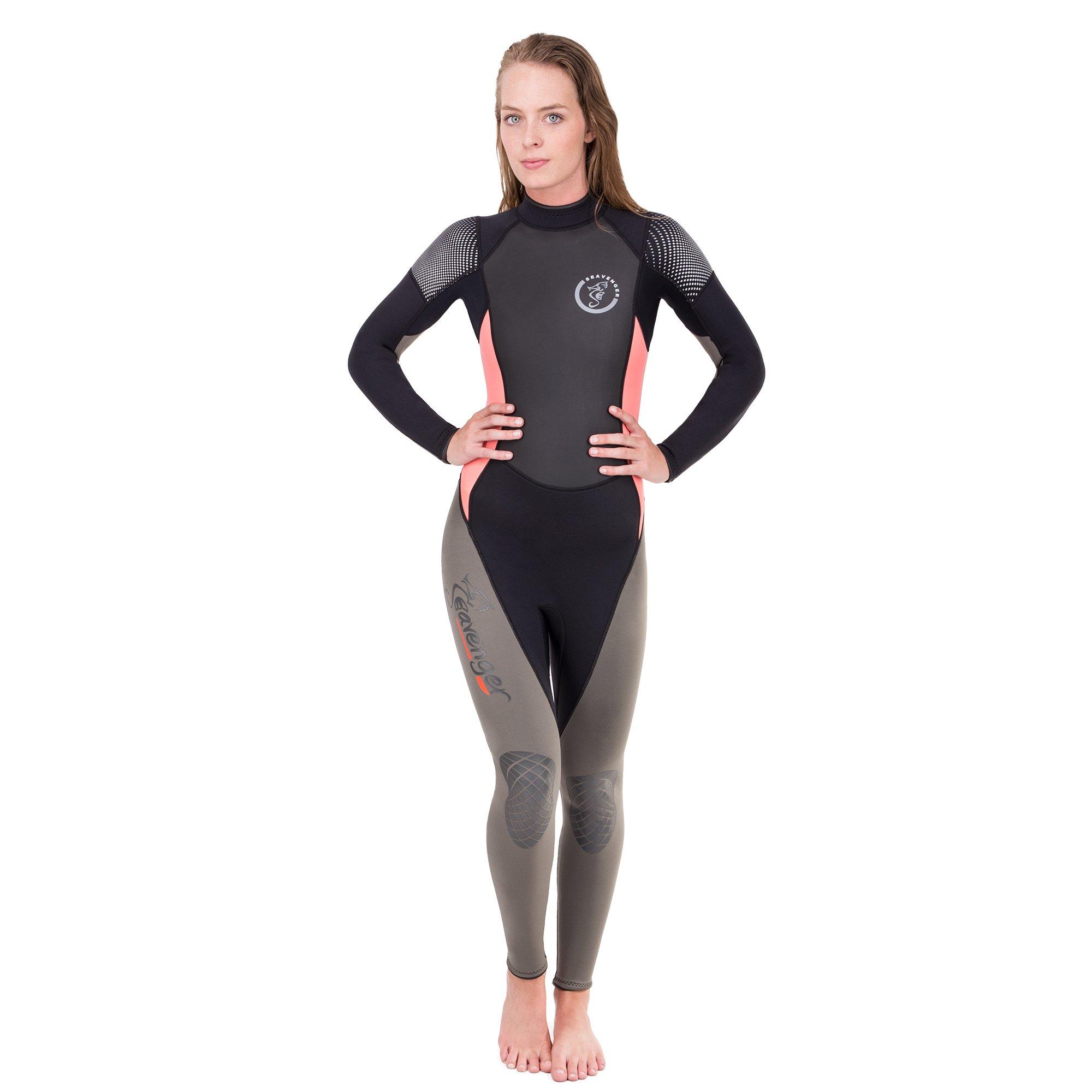 Seavenger Odyssey 3mm Wetsuit | Full Body Neoprene Suit for Scuba Diving, Snorkeling, Freediving (Surfing Salmon, Women's 13) by Seavenger
