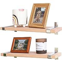 Labcosi Beech Wood Floating Shelves Wall Mounted