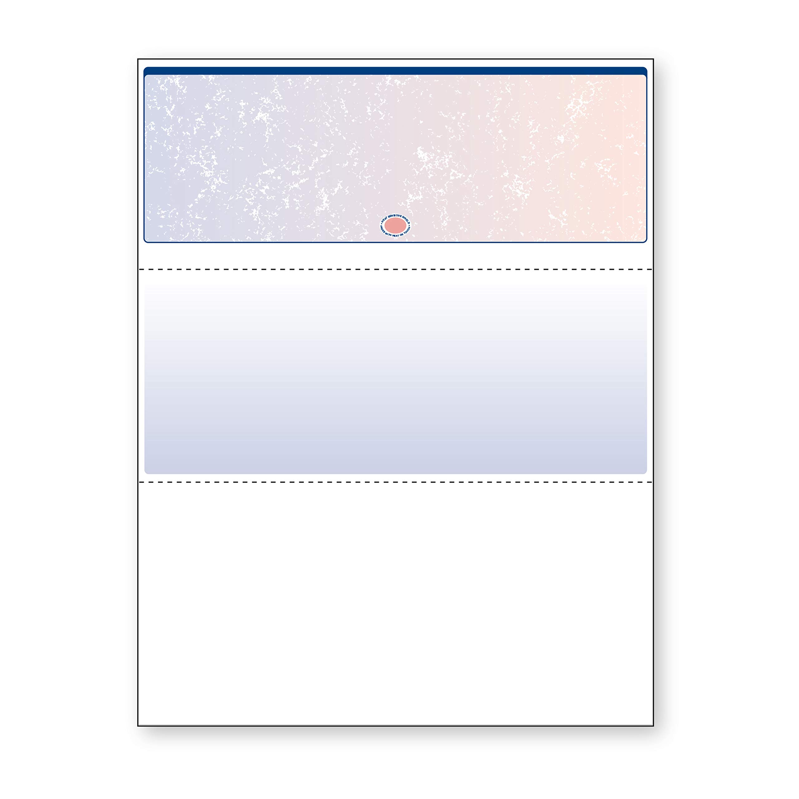DocuGard Blue/Red Prismatic Top Check, 8.5 x 11 Inches, 24 lb, 500 Sheets, 1 Check Per Sheet (04532)