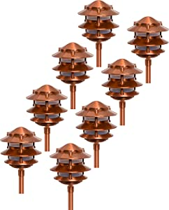 Paradise GL22764 Low Voltage Cast Aluminum 11W Path Lights (Copper, 8 Pack)