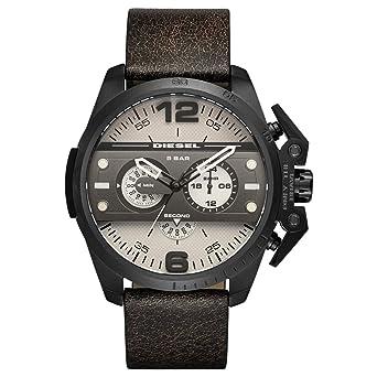 9336aaff9 Diesel Men's Grey Dial Leather Band Watch - DZ4416: Amazon.ae