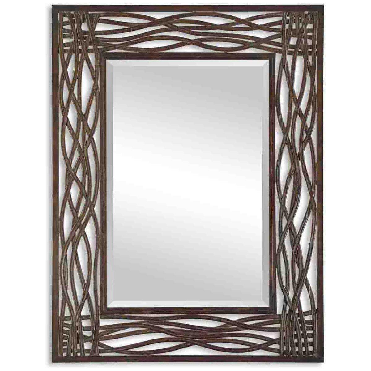Uttermost Dorigrass Mirror 0.5 x 32 x 42'', Mocha Brown