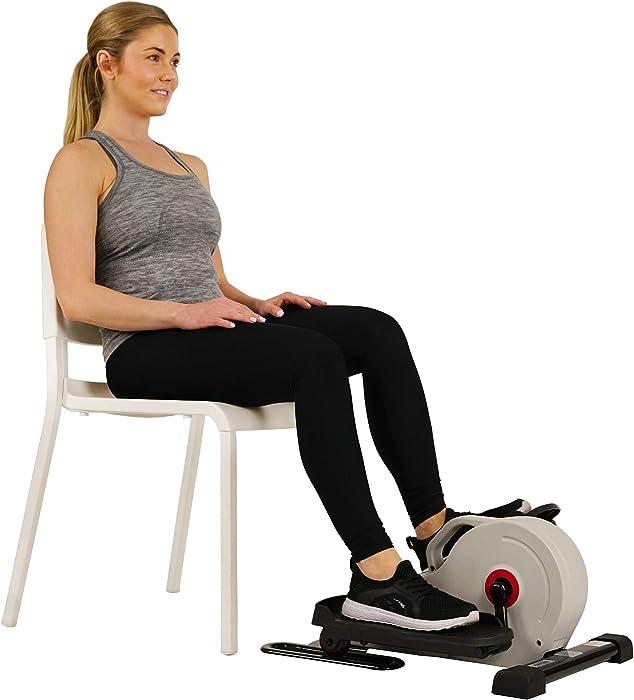 Sunny Health & Fitness Fully Assembled Magnetic Under Desk Elliptical – SF-E3872