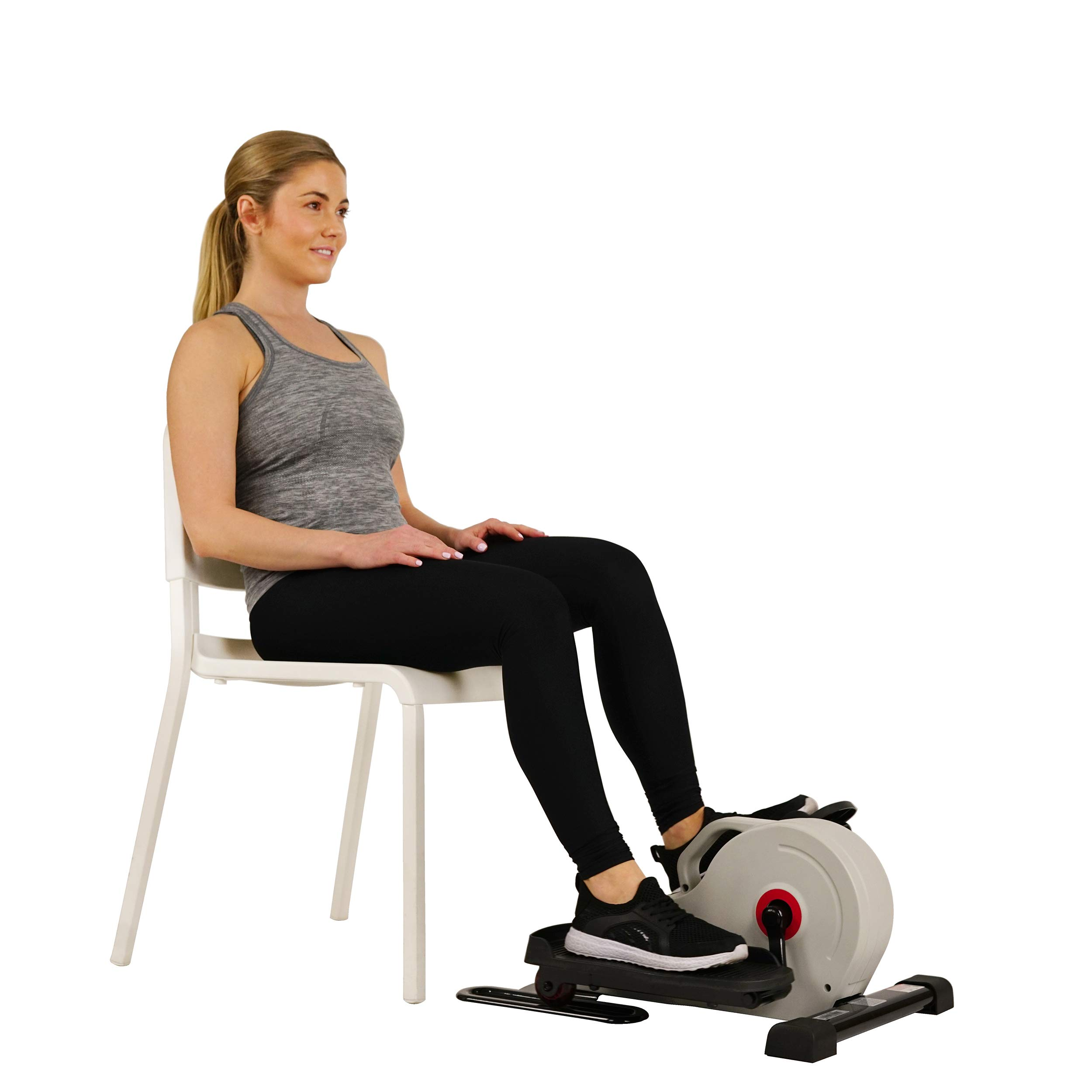 Sunny Health & Fitness Fully Assembled Magnetic Under Desk Elliptical - SF-E3872 by Sunny Health & Fitness