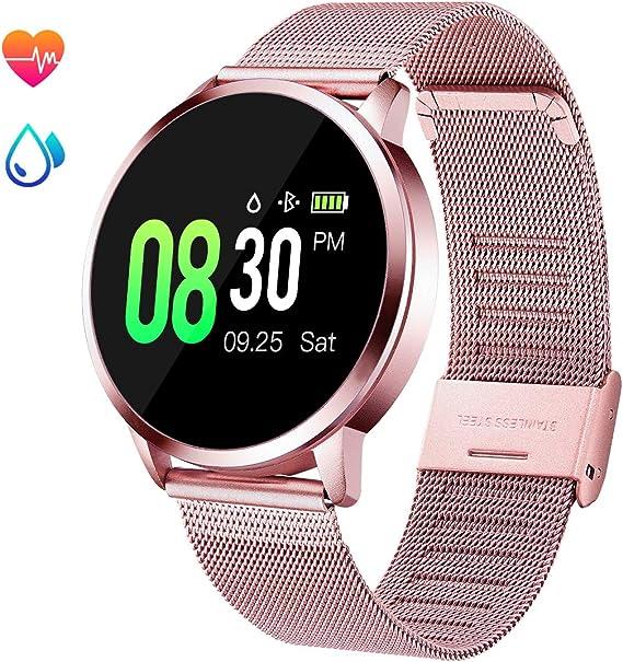 Amazon.com: GOKOO Reloj inteligente deportivo para mujer con ...