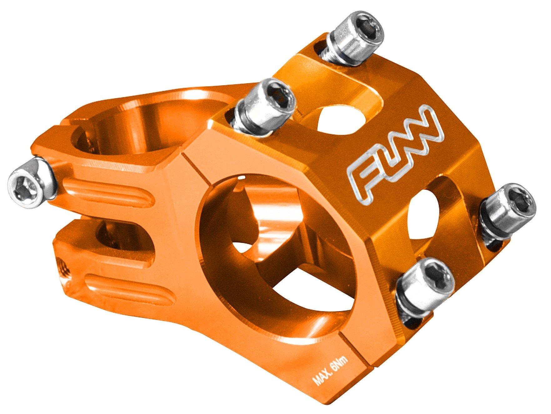 Funn Funnduro MTB Stem, Bar Clamp 31.8mm (Length 45mm, Orange) by Funn