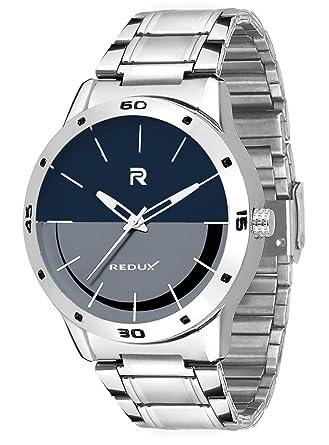 Redux Stainless Steel Blue Grey Dial Analog Mens Watch Rws0042s