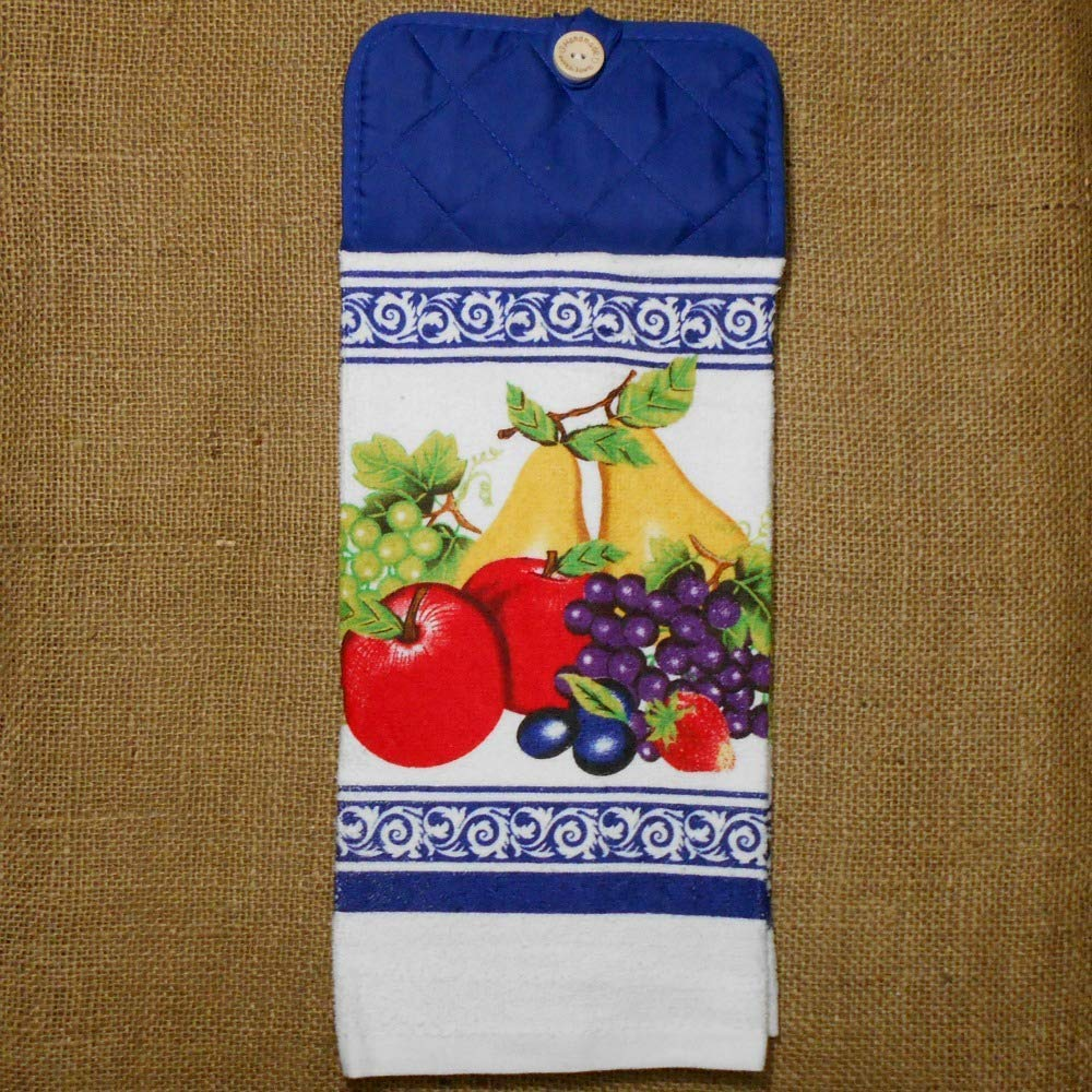 Home Kitchen Apple Grape Pear Decor Fruit Themed Hanging Dish Towel Cleaning Supplies