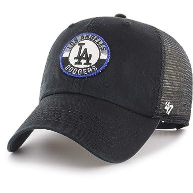 47 Brand - Gorra Angeles Dodgers - B-PORTR12GWP-BKA - Negro, U ...