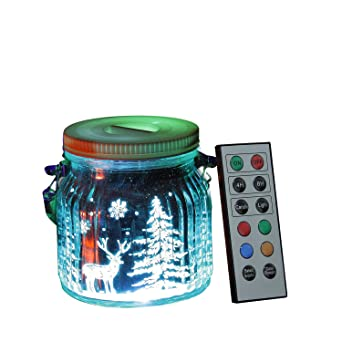 Candle Choice Living Jar, Indoor Outdoor Battery-operated Jar Light ...