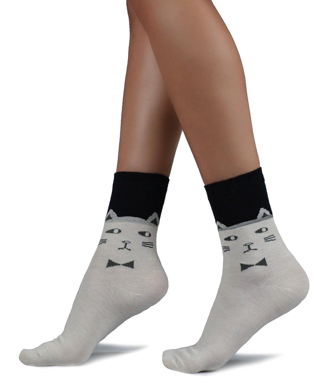 Mixmi Boutique - Calcetines - para mujer Marfil Off white Talla única: Amazon.es: Ropa y accesorios