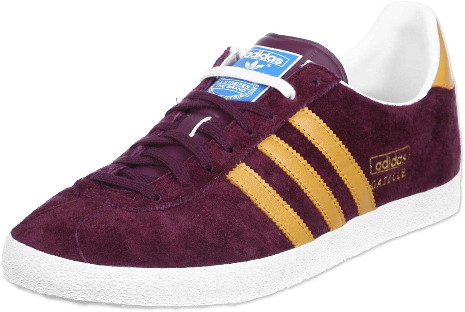 63f5161be7017 Adidas Gazelle OG Maroon Suede Leather Womens Trainers Size 4 UK ...