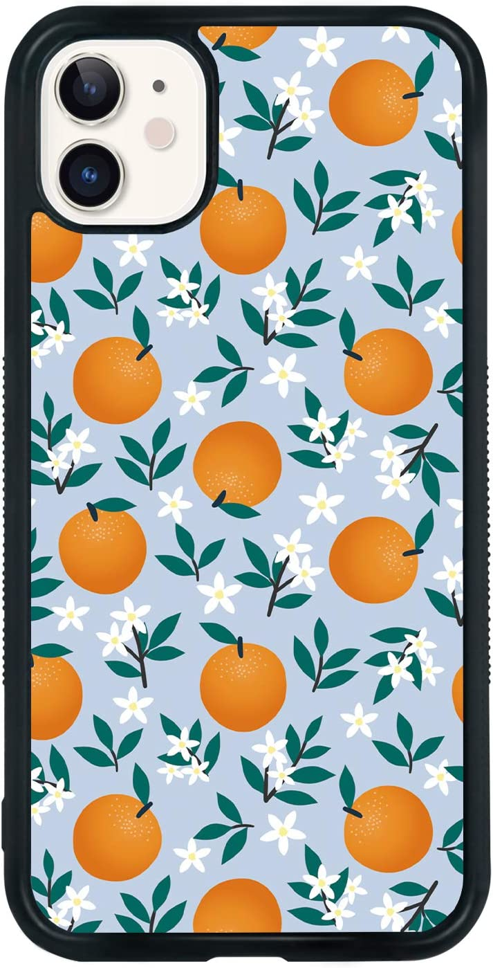 Orange Phone Case for iPhone 11 6.1 Inch - Shockproof Protective Cute Cool Flower Fruit Phone Case Designed for iPhone 11 Case for Girls Teens Women Blue Yellow