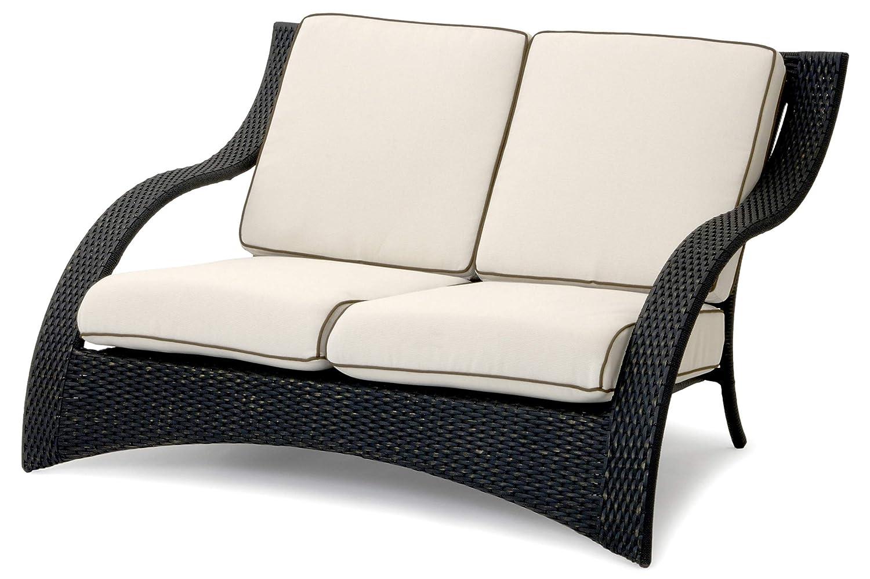 Garvida Venezia 2-Sitzer Sofa, schwarz/Gold, Alu/GARDANTEC-Geflecht, 144x107x84cm, inkl. Kissen