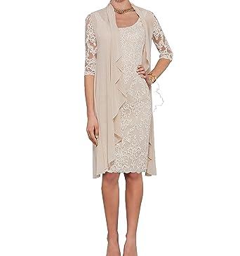 6b75e43e4d4446 ShineGown Lace Mutter der Braut Kleider mit Halbarm Chiffon Jacke für  formelle Abendgesellschaft: Amazon.de: Bekleidung