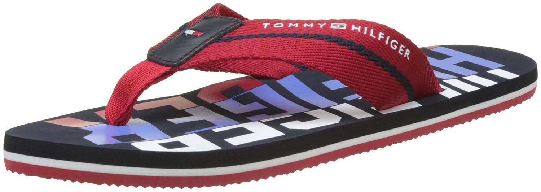 7fe0fe815 Tommy Hilfiger Men s Bold Hilfiger Beach Sandal Flip Flops  Amazon.co.uk   Shoes   Bags