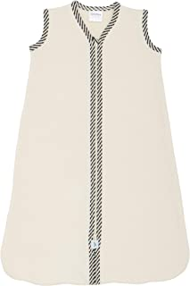 product image for CastleWare Baby-Organic Cotton Fleece-Sleeveless-Sleeper Bag-Newborn-XXL (3T, Grey Striped Trim)