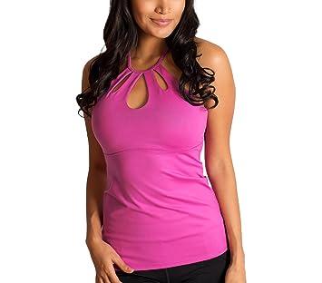 BU1018 Camiseta de deporte para mujer parte delantera forma de lagrima mod. Tear - Fucsia