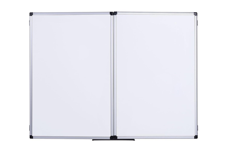 Bi-Office Earth Trio Magnetisch Oberfl/ächen 120 x 90//240 x 90 cm Whiteboard Klapptafel mit 3 Wei/ßwandtafeln