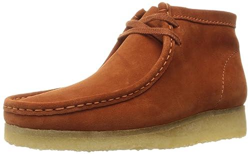 promo code 62299 b90c0 Clarks Hombre Wallabee Boot Naranja Ante W0059 Boots, Color Naranja, Talla  Mittlere (M) US 10.5 UK 10 EU 44  Amazon.es  Zapatos y complementos