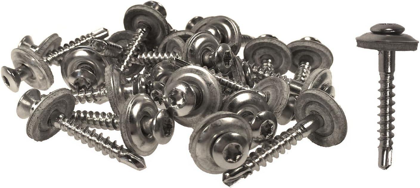 Muttern aus Edelstahl ♫ 4 Paare von Kleinen Schrauben Btr Ø 2,5 X L:14 mm