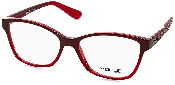 Vogue VO2998 Eyeglass Frames 2348-54 - Red Brick Grad Fire Red at ...