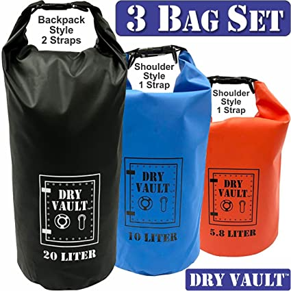 Amazon.com: Dry Vault – Sets – Lona 500d PVC 3 Bolso Set ...