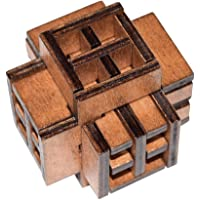 Childplaymate Kong Ming Luban Lock Kids Adult Wooden Puzzle Brain Tease Toy (Window)