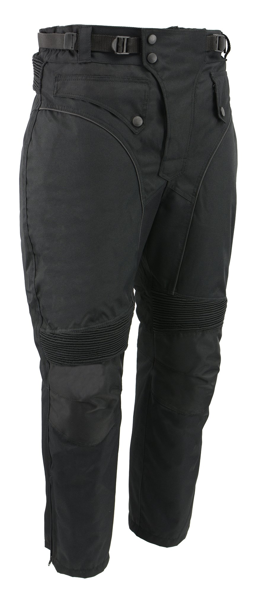 M-BOSS MOTORCYCLE APPAREL-BOS15572-BLACK-Men's waterproof and zip-out insulated ce armor motorcycle pants.-BLACK-MEDIUM