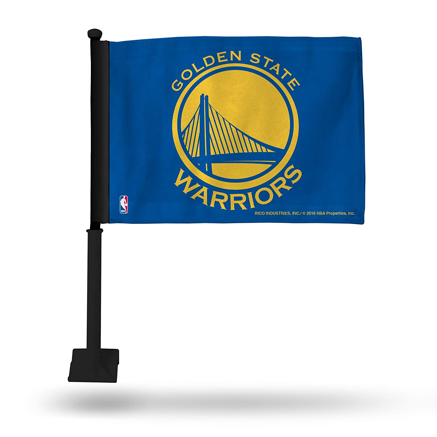 Blue with Black Pole NBA Golden State Warriors Car Flag