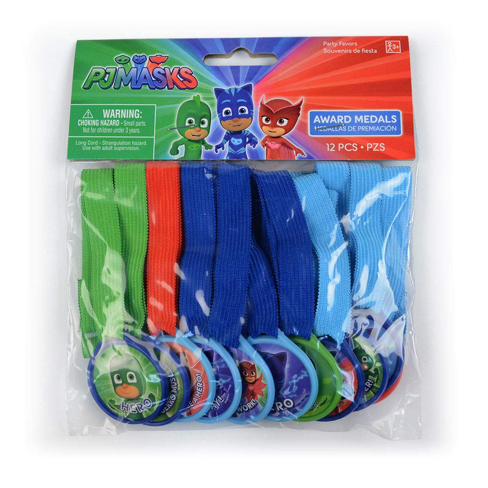 PJ Masks Cookies and Toy Birthday Party Supplies for 12 Guests Primary Colors Candy Candy