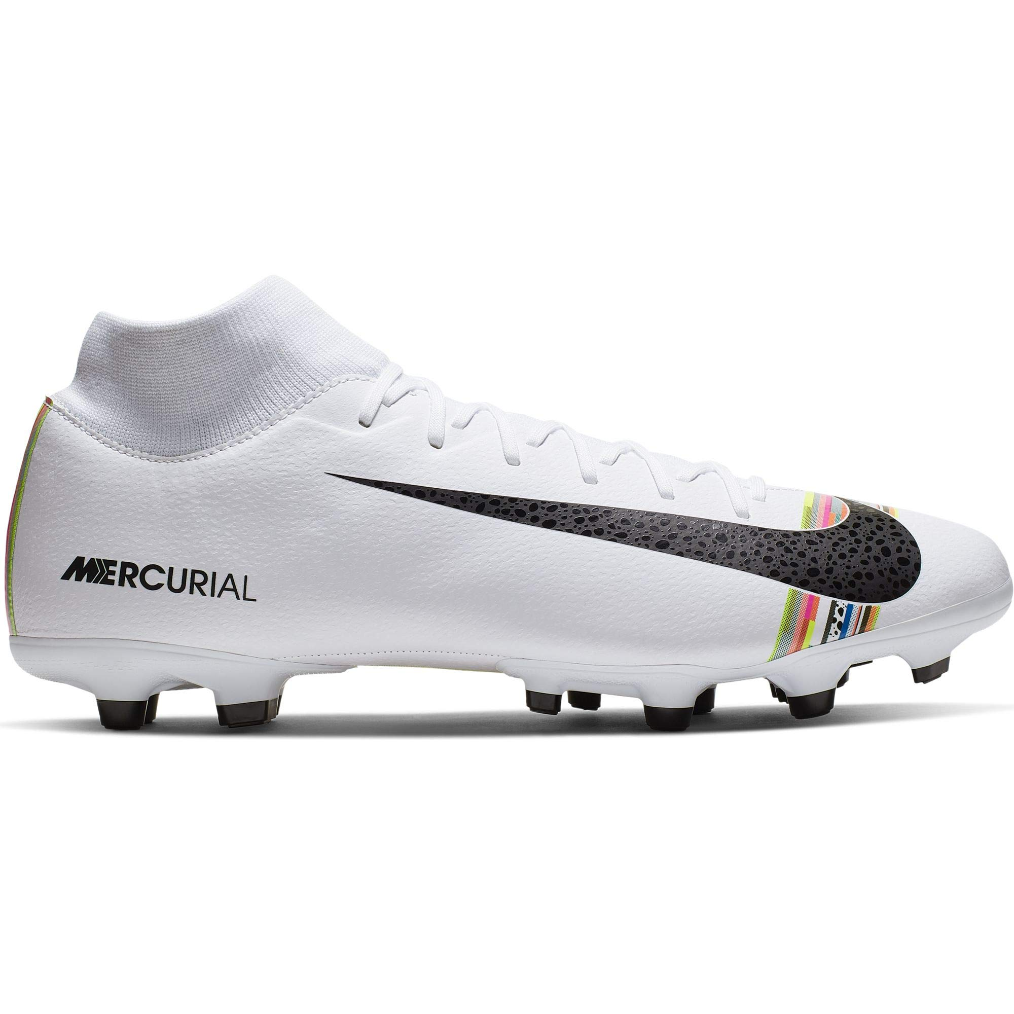 Nike Men's Mercurial Superfly 6 CR7 Soccer Cleat White/Black/Pure Platinum Size 8.5 M US