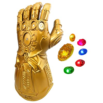 XXF New Infinity Gauntlet for Kids, Iron Man Glove LED with Removable Magnet Infinity Stones-3 Flash Mode.(Kids): Toys & Games