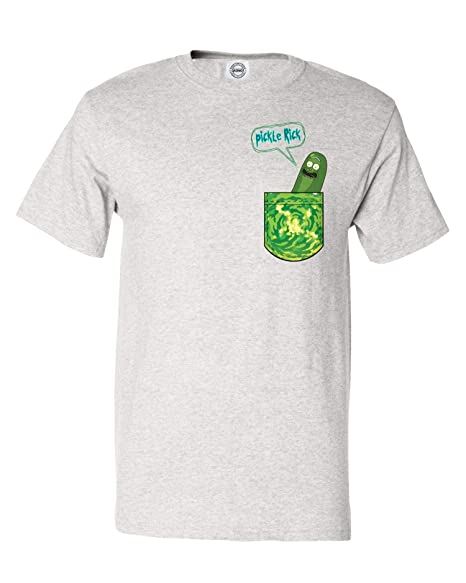 07ade315 Qasimoff New Graphic Tee Shirt & Morty Pickle Rick in a Pocket Funny Men's T -