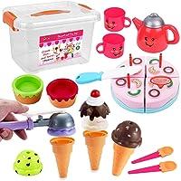 FUNERICA Pretend Play Food Dessert Set - Ice Cream - Happy Birthday Cake - Play...