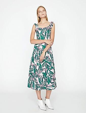 d105cf909a4c3 Koton Kadın Elbise, Ekru Desenli, 42: Amazon.com.tr