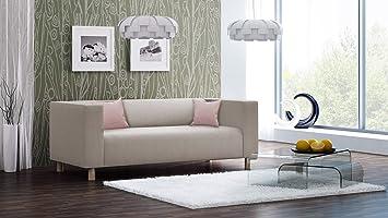 Sofa, Couch, 3-Sitzer, Polstersofa, Webstoff, Beige, Creme ...