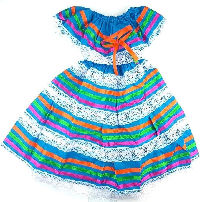 Amazon.com: Disfraz de Fiesta Mexicana, vestido hippie ...