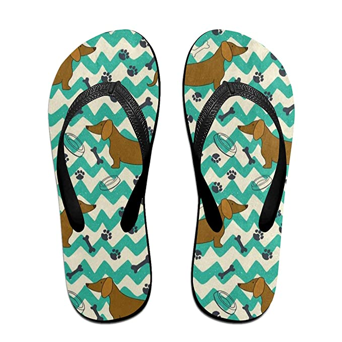 a0bcdbcc4108 Flip Flops Cartoon Dachshund Dog Paw Print Bone Women s Summer Slippers Top  Sandals For Teen