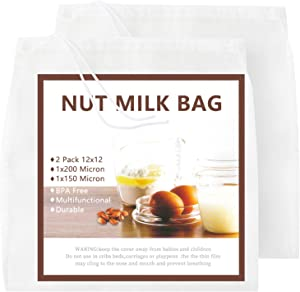 Nut Milk Bag 2 Pcs, GOGOUP 12