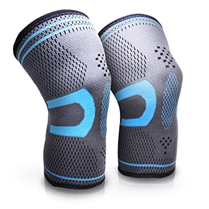 7f5f9a1efe AIMERDAY Compression Knee Sleeves 1 Pair Knee Brace for Men & Women, Non  Slip Knee