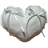 Crociedelizie, Cuscino portafedi cuscinetto fedi in tela aida rifinitura in raso da ricamare a punto croce