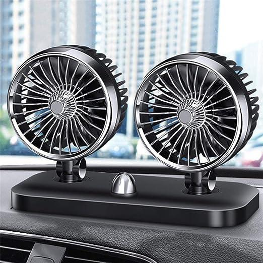 Accesorios del Coche Universal Ventilador De Enfriamiento 12 V 360 Grados Ajustable del Aire del Coche Ventilador De ...