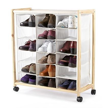 Storage Dynamics 18 Pocket Rolling Shoe Bin